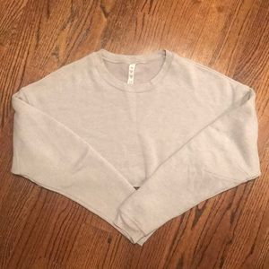 Alo Yoga Extreme Crop Crew Neck Sweatshirt